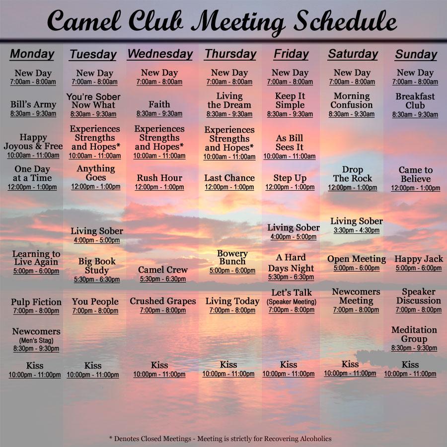 Camel Club Las Vegas Aa Meetings In Las Vegas