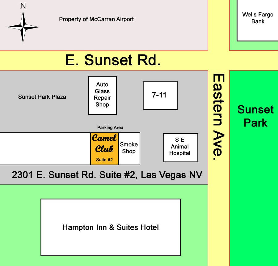 Camel Club Las Vegas Location And Map